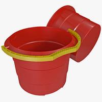 toy bucket 3d model