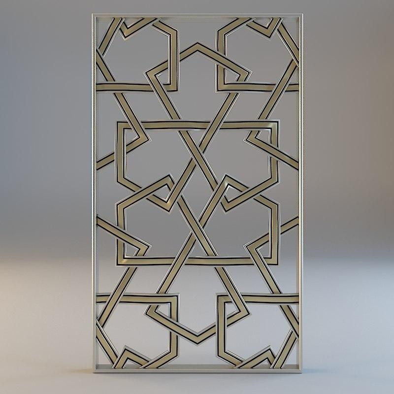 decorative wall 3d max