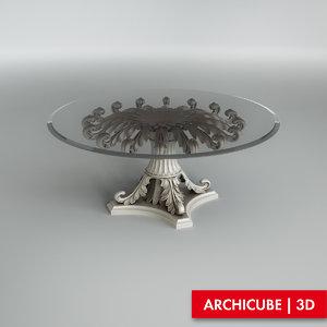 table ezio bellotti 3d model