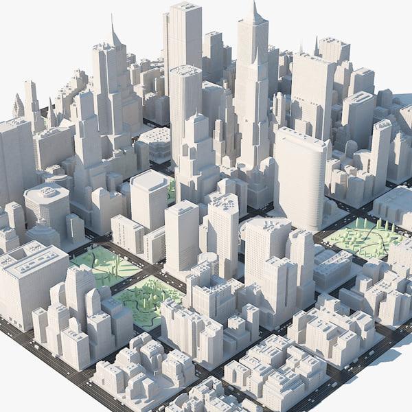 3ds city - architecture