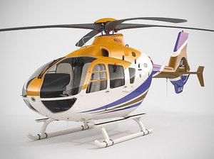 realistic eurocopter ec135 3d max