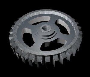 free gear 3d model