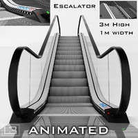 3d escalator 3m model