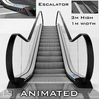 Escalator 3m high animated