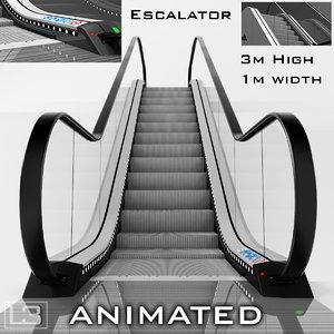 3d escalator 3m model