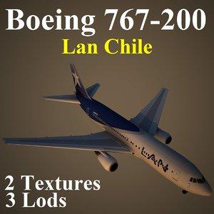 boeing 767-200 lan 3d max