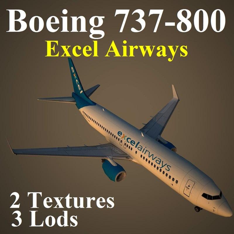3d model boeing 737-800 xla