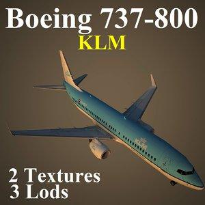 3d boeing 737-800 klm model