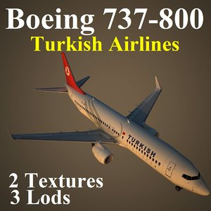 boeing 737-800 thy 3d model