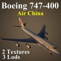 3d model boeing 747-400 cca