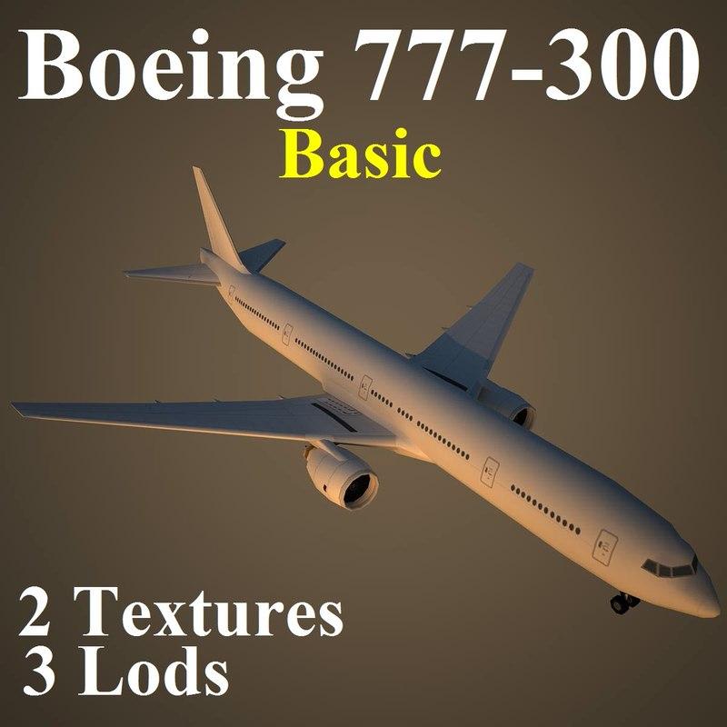 max boeing 777-300 basic