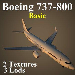 boeing 737-800 basic 3d max