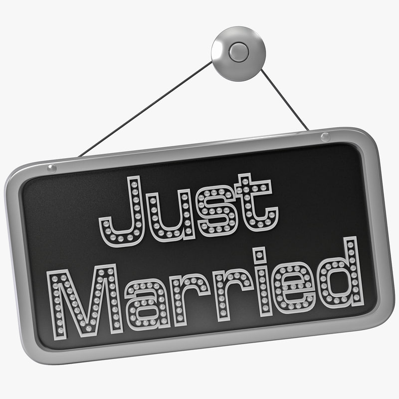 3ds just married sign