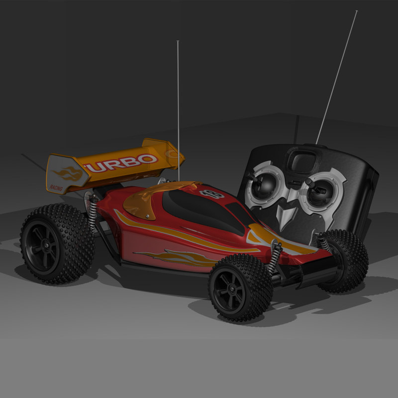 radio toy car 3d model