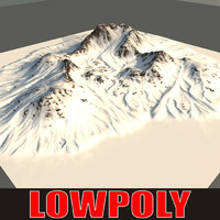 snowy mountain 3d model