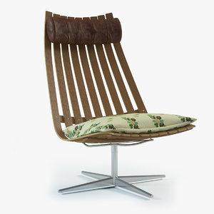 scandia chair 3d model