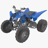 3d model sport atv yamaha raptor