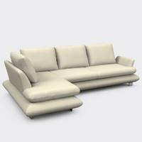 3d corner sofa v811