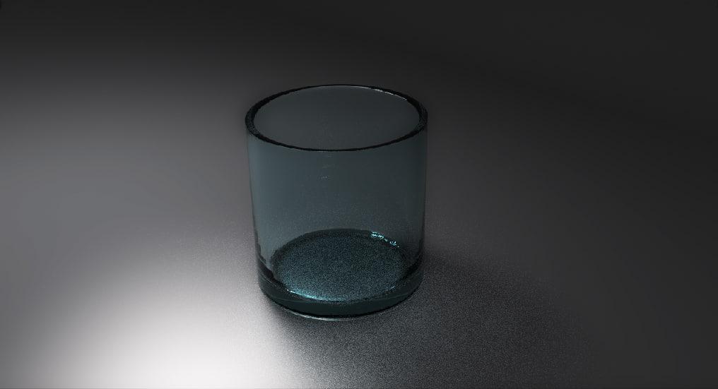 free crystal glasses 3d model