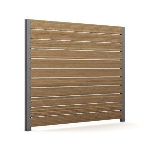 wooden fence wood 3d model