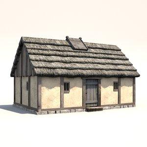 medieval dwelling 3d model