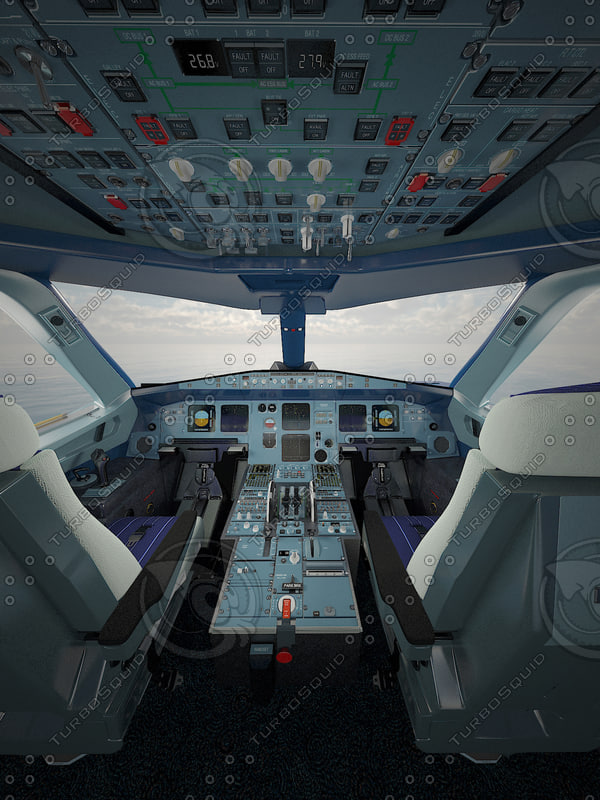 Airbus A320 cockpit high detailization