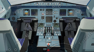 3d model airbus detailization
