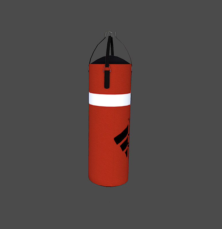 3dsmax boxing sand bag