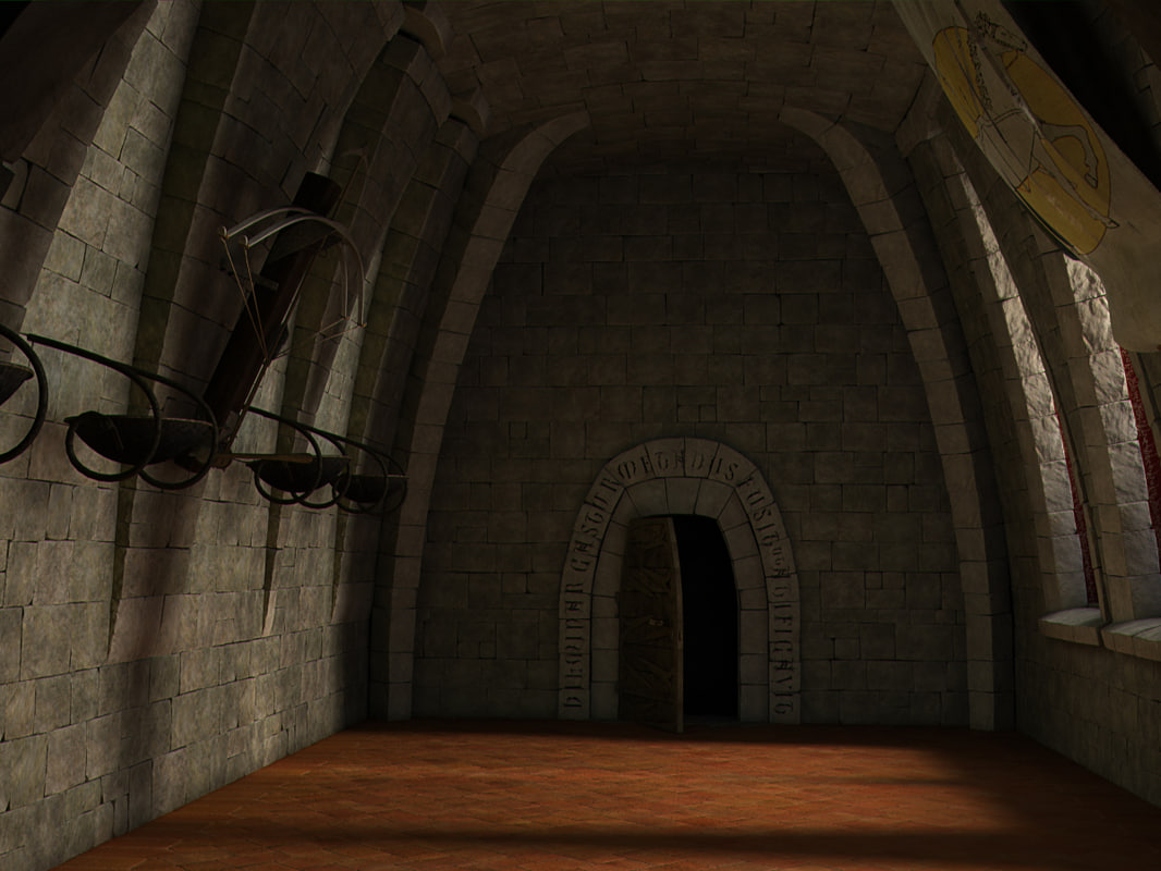 medieval hall bow 3d model