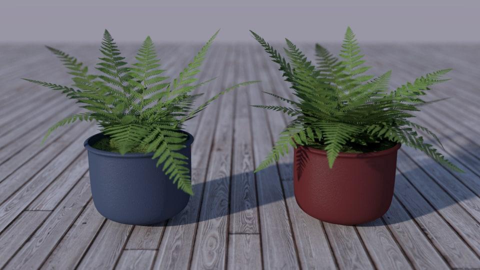3d simple ferns