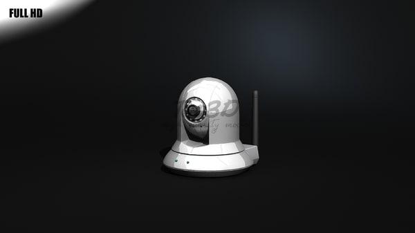 3d model wifi surveillance camera