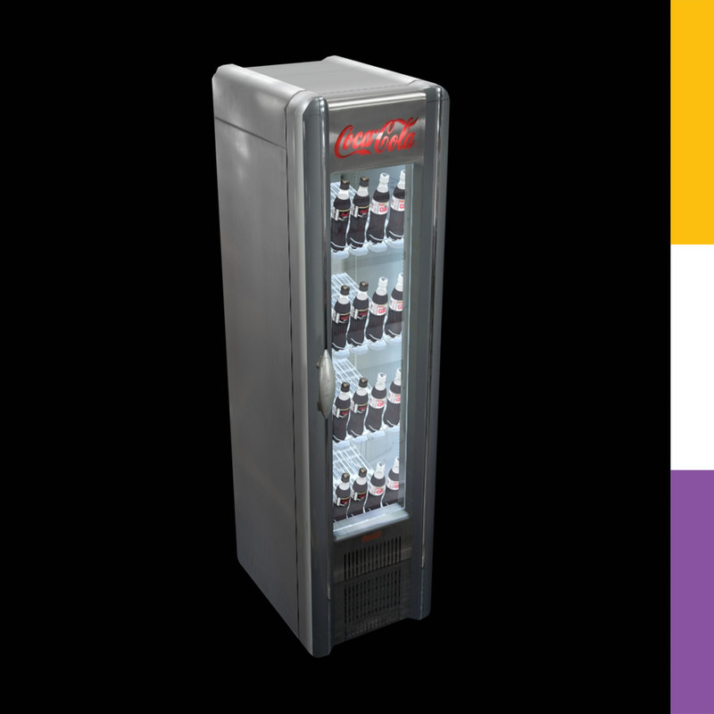 Drinks fridge coca cola retro 3d model for 1 door retro coke cooler