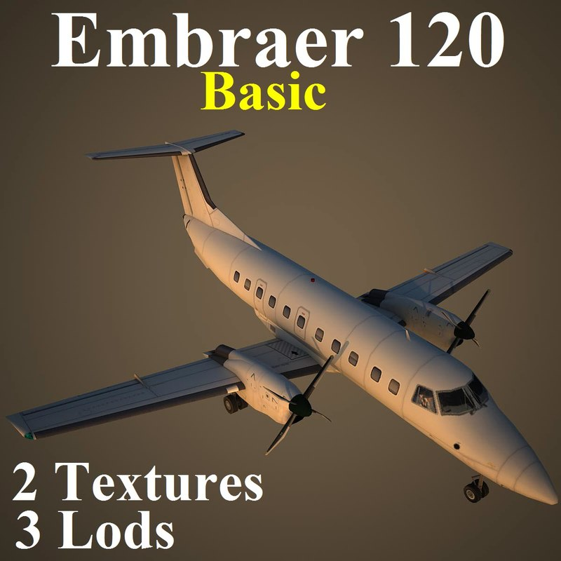 3d model embraer emb 120 basic