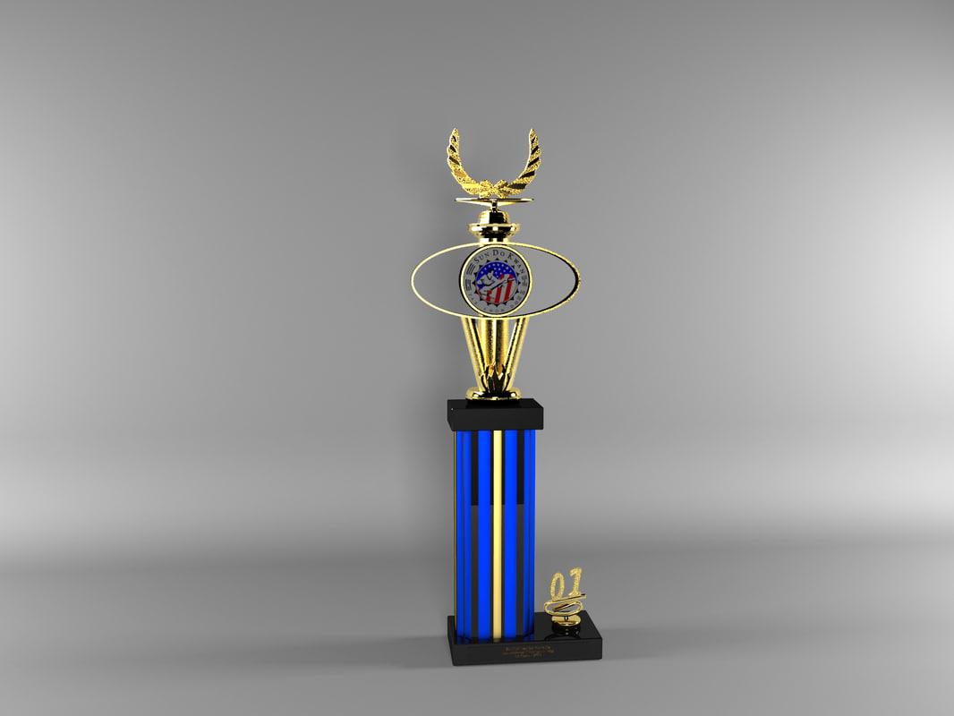 3d karate trophy
