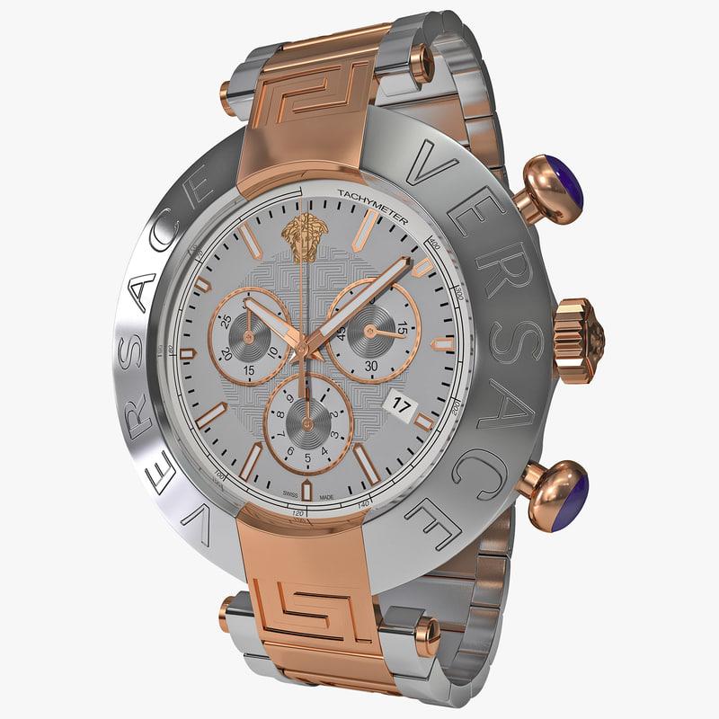 versace mens watch va8030013 3d 3ds