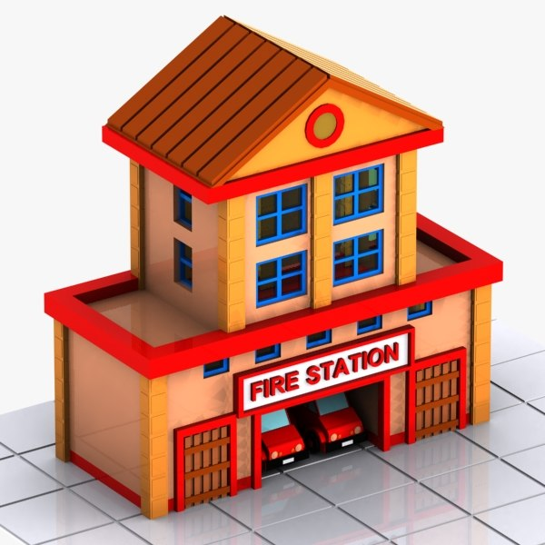 station s cartoon 3d model
