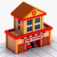 Cartoon Fire Station