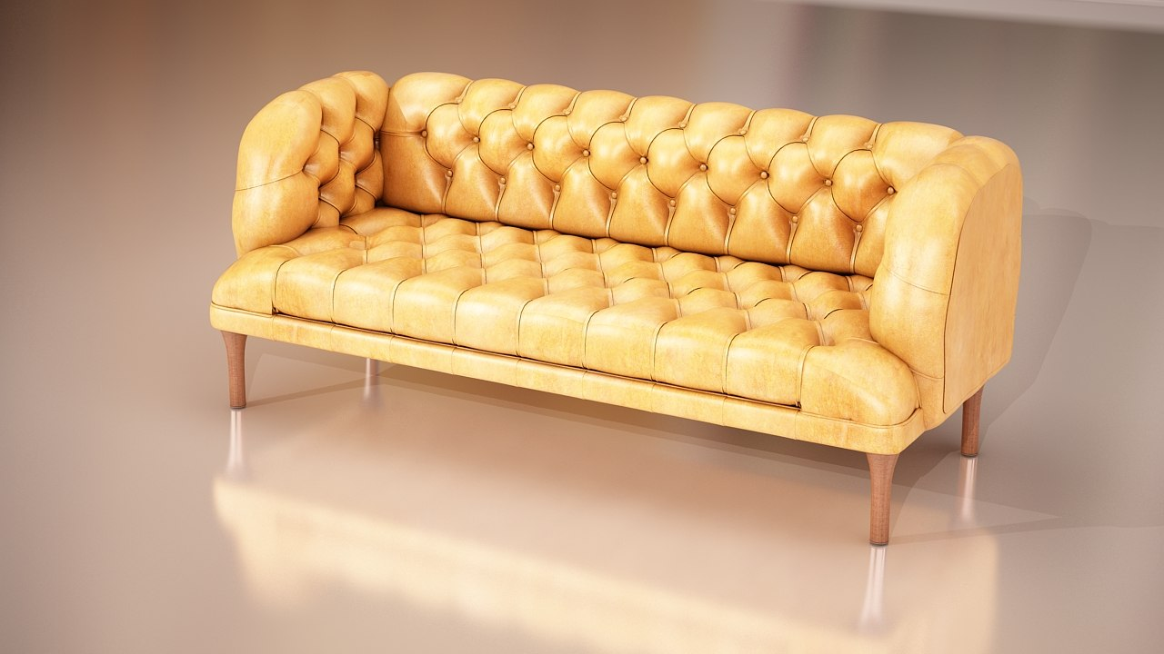 3d model of furniture classic sofa