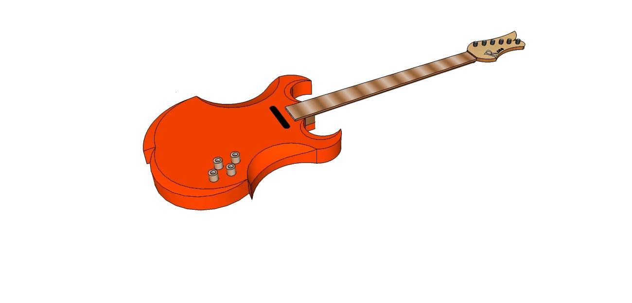 3d 3ds rose guitar