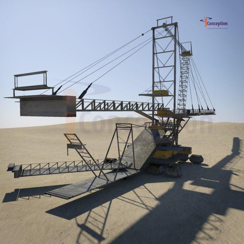 3ds dragline excavator