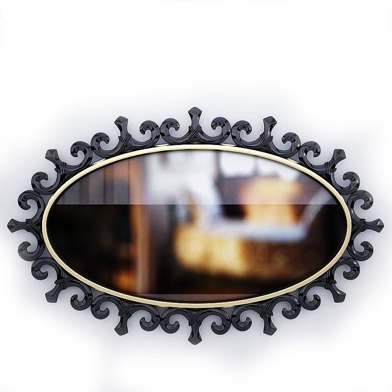 art - deco mirror 3d max