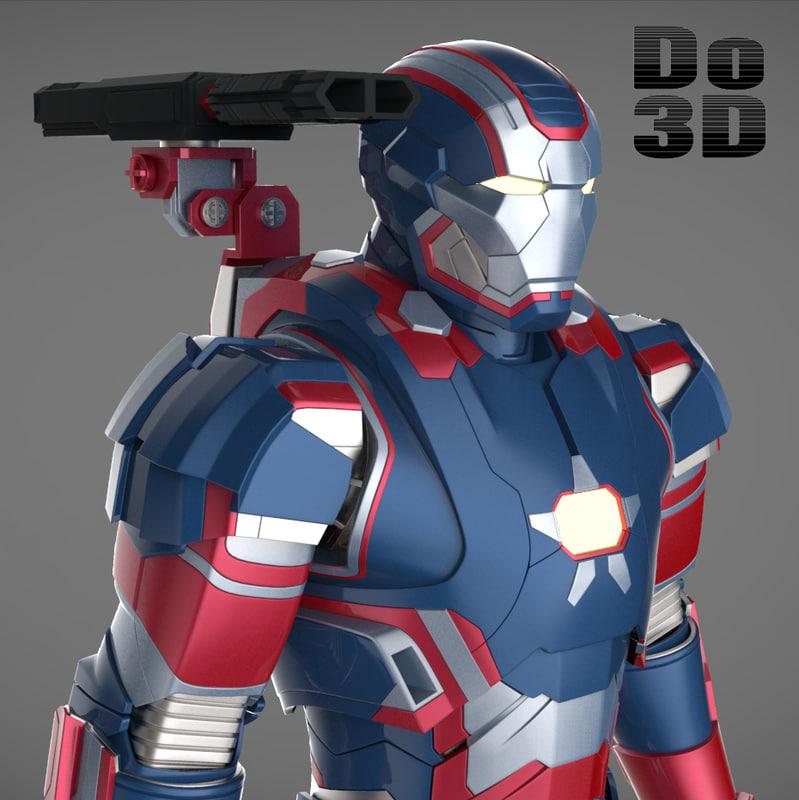 3ds max armor 3 suit