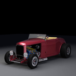 3d highboy roadster interior
