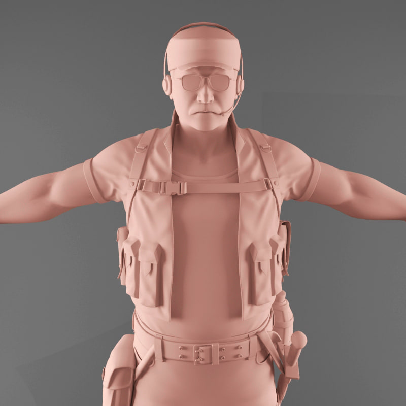 3d male character model
