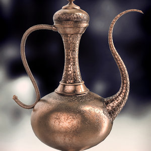 arabic wine tea pitcher 3d model