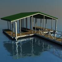 3d boat dock model