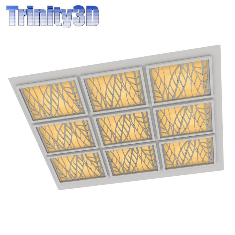 3d ceiling panel model