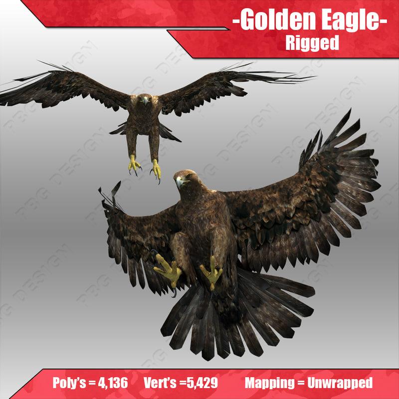 3d golden eagle