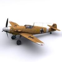 3d german marseille bf-109 f4 model