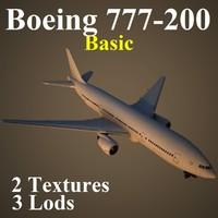 3d boeing 777-200 basic model